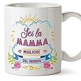 MUGFFINS Tazza Mamma -'Sei la mamma migliore del mondo' (Modello 1) – Idee Regali Originali Festa della Mamma
