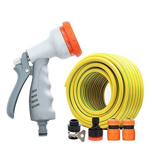 Multifuncional / giratorio Agua potable Manguera ergonómico Jabón dispensación pulverizador 8 Engranajes / manguera con boquilla rociadora ajustable / mejor opción for el riego y el lavado (20m / 30m