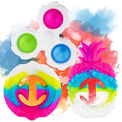 Fidget Toys, Snappers Fidget Toy, 3PCS Pop Sensory Fidget Toys for Adults...