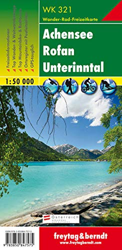 Achensee - Rofan - Unterinntal, Wanderkarte 1:50.000, WK 321: Wandel- en fietskaart 1:50 000 (freytag & berndt Wander-Rad-Freizeitkarten)