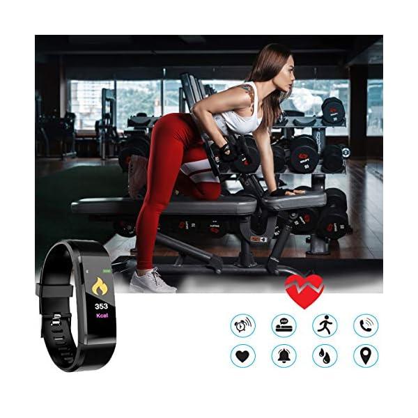MuscleLocker Fitness Tracker, Monitor de actividad cardíaca, impermeable, pulsera inteligente con contador de pasos… 5