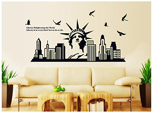 Ufengke® Nueva York Paisajes Urbanos Estatua La Libertad