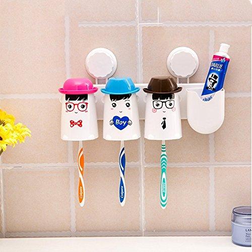 An der Wand montierten saugnapf Zahnbürste rack Wand - Waschmaschine gesetzt kreative Zahnpasta Mundwasser cups, EIN