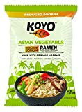 Koyo Ramen Soup, Asian Vegetable Reduced Sodium, Made With Organic Noodles, No MSG, No Preservatives, Vegan, 2.1 Ounce Per Package (12 Pack)