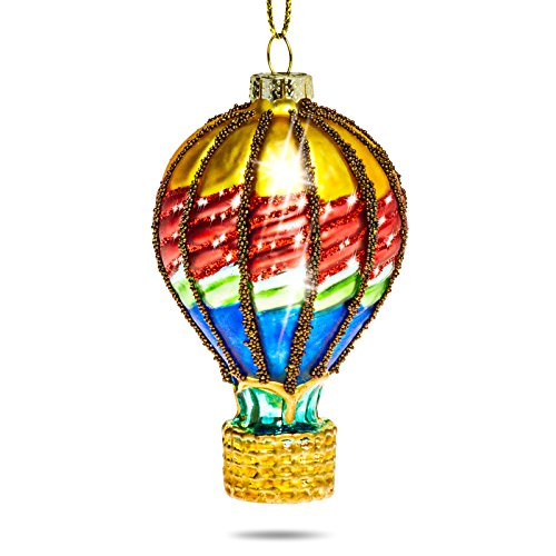 Sikora BS384 Heissluft Ballon Christbaumschmuck Glas Figur Weihnachtsbaum Anhänger