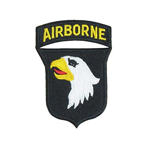 Epic Militaria Reproducción Guerra Mundial 2101st Airborne Screaming Eagles con parche rojo lengua