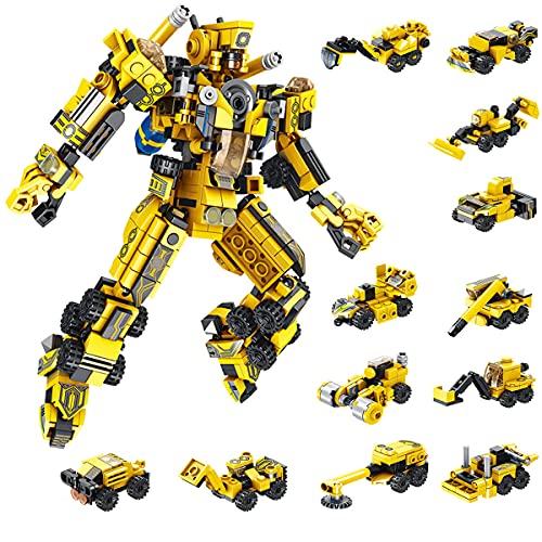 TINIBOLT Robot Juguetes de Construcción , 25-in-1 Stem Ingeniería Bloques de Construcción para 6 7 8 9 10 11 años Niños y Niñas,573 PCS
