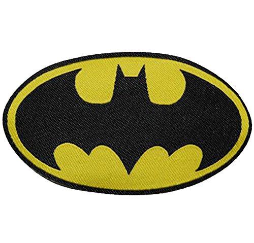 alles-meine.de GmbH Batman - 7,8 cm * 4,5 cm - Bügelbild / Aufnäher Applikation - Superheld Comic Man Super - Bat-Man Fledermaus Aktion Held Figur - Aufbügelflicken / Logo