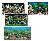 takestop® sfondo per acquario 40x75 cm pellicole immagini esterne retro poster fantasia casuale