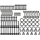 JSDDE Piercing Set 100x Edelstah...