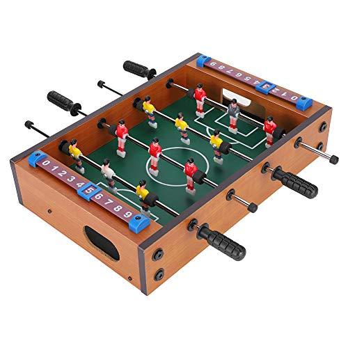 フーズボールテーブル、フットボールテーブルゲーム、ミニフーズボールテーブルトップサッカーボールスポーツ屋内ビリヤードゲーム競争ゲームパーティ