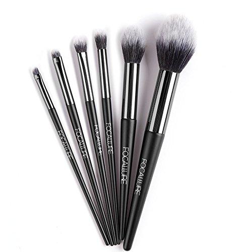 WINJIN Brosse cosmétiques 6Pcs Pinceaux de maquillage Make Up Fondation Sourcils Eyeliner Blush Cosmétique Concealer Brosses Set de Pinceaux à Maquillage Professionnelles