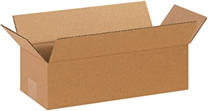 """Aviditi 1464 Long Corrugated Cardboard Box 14"""" L x 6"""" W x 4"""" H, Kraft, for Shipping, Packing and Moving (Pack of 25)"""