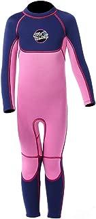 Full Body Kids Wetsuit Neoprene One Piece Warm Swimsuit 2.5MM for Girls Boys Children, Long Sleeve UV Protection Swimming Suit Back Zip for Surfing Scuba Snorkeling Diving Fishing