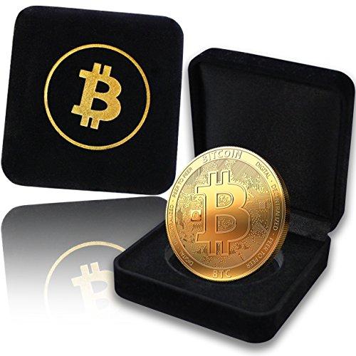 innoGadgets Physische Bitcoin Medaille 2020 mit 24-Karat Echt-Gold überzogen. In Einer edlen Schatulle für EIN wahres Sammlerstück
