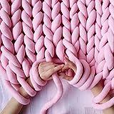 SOWLFE Filato di Lana Gigante Roving per Braccio A Maglia Knitting Fai-da-Te Coperta Tessuta A Mano Filato di Base Gigante Roving Rotondo Linea Grossa Filato per Maglieria 984.25in Astounding