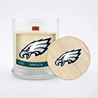 Worthy Promo NFL Philadelphia Eagles Vanilla Scented Candle, 8 oz, Clear