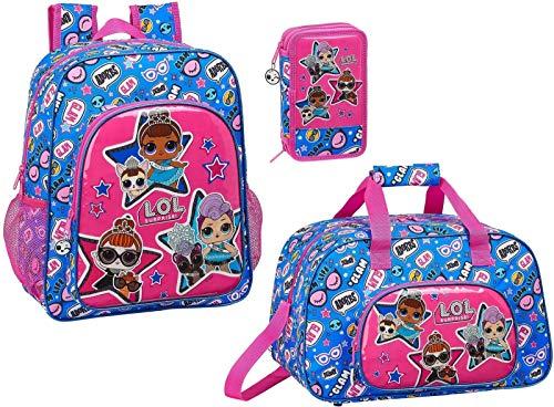 LOL Surprise Backpack Sports Bag Pencil Case and Pencil Case Girls Daypack Set L.O.L.