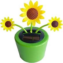 Ouniman Dancing Solar Toys, 26 Styles Solar Dancing Flower Cactus Solar Powered Toys Car Swinging Dancing Toy Car Windowsill Decoration Holiday Car Dashboard Office Home Desk Decor (V)