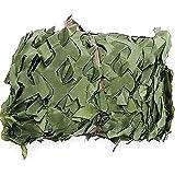 YCCLIFD Camouflage Net, Filet De Camouflage, Chasse, Armée, Aveugle, Automobile, Couvre Auvent, Tente,Ombre, De L'armée,en Nylon, pour Chasse Voiture Couverture(Size:2×5m/6.6×16.4ft,Color:Vert)
