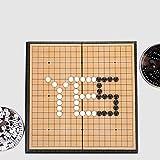 Go juego set, tablero magnético plegable de ajedrez, Go juego educativo, Go Game niños viaje juego juego de mesa