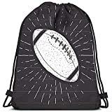 Motif Fantaisie Sac Sac À Dos À Cordon Football Rugby Ball Vintage Label Sketch Yoga Runner Daypack Chaussures Sacs