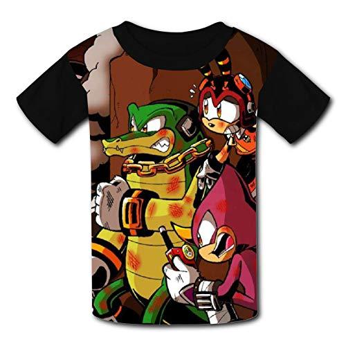 977 So-nic For-ces - Camiseta de manga corta con estampado 3D, cuello redondo, para adolescentes, niños y niñas