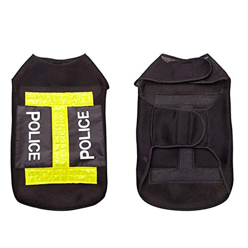 Guard Dog Vest Police Costume Training Pants Jacket Hoodie Clothing Accessories (XX-Large)