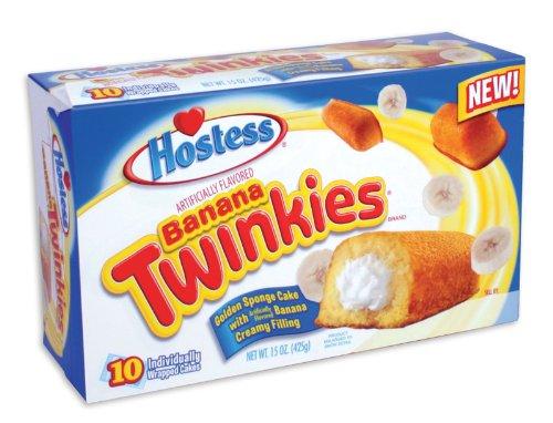 Hostess BANANA Twinkies 10 ct Sponge Cake 13.5 oz (2 Pack)