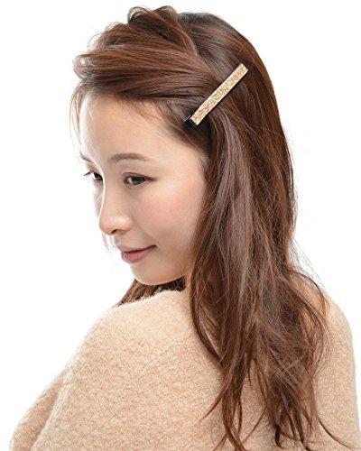 (ヴィラジオ)Viragio ヘアクリップ 2個 セット 小 小さめ シンプル ゴールド ヘアピン 髪留め くちばしクリップ シンプル ヘアアクセサリー ダッカール クリップ ブランド vi-0395 (ピンク2個)