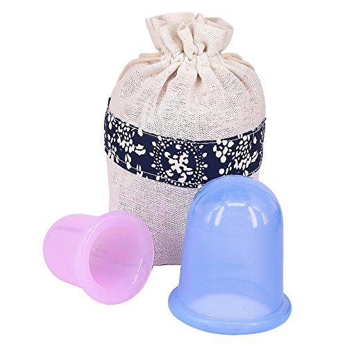 Kindax 2pz Coppette Anticellulite per Massaggio coppettazione, Massaggiatori Anti Cellulite per Cupping Therapy per Liscia della Pelle a Buccia d arancia