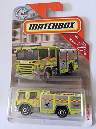 Matchbox 2019 MBX Rescue 5/20: Scania P 360 (Yellow)