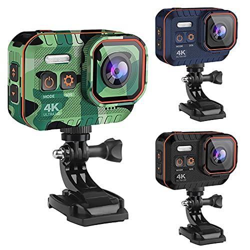 Action Cam 4K 20MP WiFi 2.4G Telecomando Impermeabile Subacqueo + Kit di Accessori
