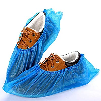 HALULU Shoe Covers Disposable -200 Pack (100 Pairs) Waterproof Shoe & Boot Covers Slip Resistant Durable Shoes Protection Outdoor Indoor For Rainy Day, Surgical Clinics, Labs, Dust-free Workshop