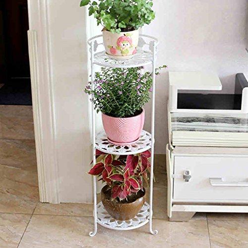 balcon voyantes Ensemble de fleurs en fer à plusieurs étages balcon de style étage salon intérieur étagère de fleurs pot de orchidée radix vert Plantes d'extérieur Présentoir ( taille : 26*78cm )
