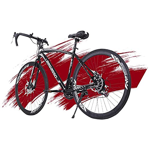 700C Road Bike for Men Women Shimano 21 Speed Racing Bicycle with Double Disc Brake Lightweight Carbon Steel Frame (5-12 Days from LA)