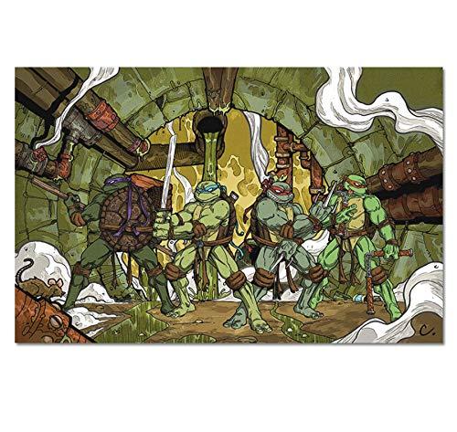 RUIYAN Leinwand Malerei Wandkunst Bild Comics Ninja Turtles Poster Drucken Leinwand Malerei Geschenk Ohne Rahmen 40 * 60 cm