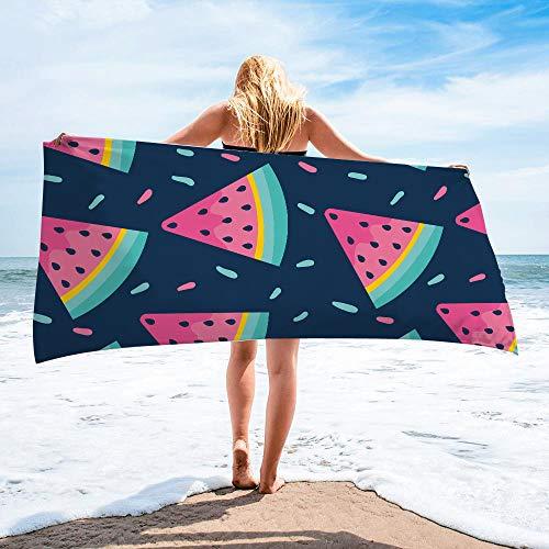Surwin Toalla de Playa Grande, Microfibra Hawai Impresión Secado Rápido Toalla de Piscina Toalla de Arena Antiadherente para Verano Playa, Yoga, Picnic, Hotel (Amarillo,80x160cm)