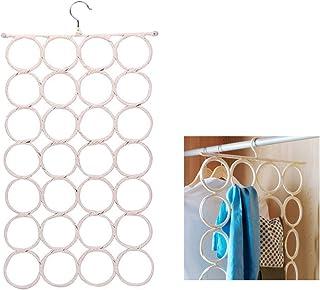 28 Loop Scarf Hanger Holder Closet Door Organizer Tie Belt Rack