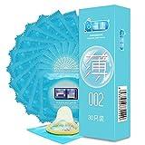 BZLEK 30Pcs Ultra Super Thin Cọndọmṣ Slim P-Ê-Ň-Ï-S R-Ï-Ň-G Sleeve Intimate Condones Adult Sex T-Ô-У Product for Men, Natural Rubber Latex