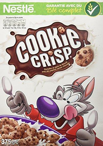 Nestlé Cookie Crisp Céréales au Goût de Biscuit avec des Pépites Saveur Chocolat 375 g