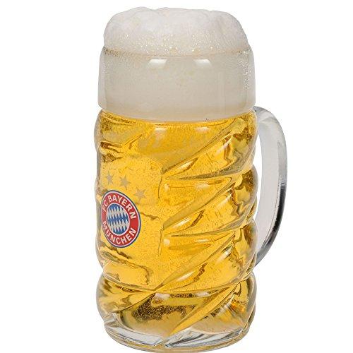 FC Bayern München Glas / Bierglas / Bierhumpen / Bierseidel / Bierkrug / Halbe-Maßkrug FCB plus gratis Aufkleber forever München
