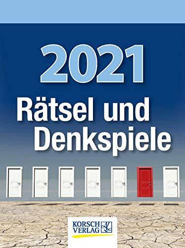 Rätsel und Denkspiele 2021: Tages-Abreisskalender mit Rätseln und kniffligen Denkaufgaben I Aufstellbar I 12 x 16 cm