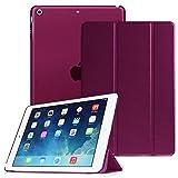 Fintie Hülle für iPad Air 2 (2014 Modell) / iPad Air (2013 Modell) - Superdünne Superleicht Schutzhülle mit Transparenter Rückseite Abdeckung mit Auto Schlaf/Wach Funktion, Lila