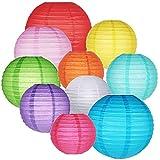 ロパ 紙提灯 丸型 装飾に 紙ちょうちん 和紙提灯 無地 ランプシェード丸型 誕生日ウェディングパーティー装飾工芸DIY 10個セット