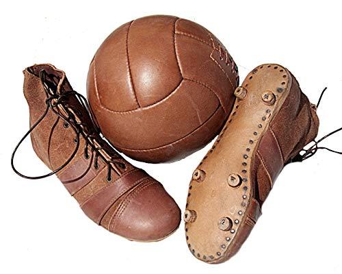 Botas de fútbol + balón de fútbol en Estilo Retro de los años 20.
