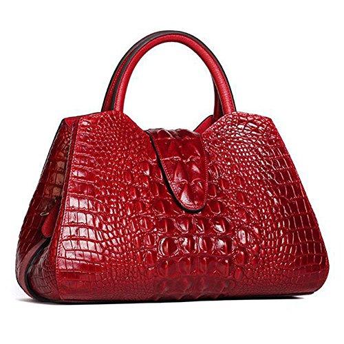 Lederleiter Bolso Bandolera, Bolsos MujerCuero Bolso de Hombro Bolso Shopper Callejero Bag