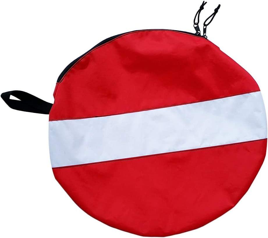 Colcolo Round SALENEW very popular Dive Flag Outlet SALE Diving Ba Mouthpiece Regulator Gear Hose
