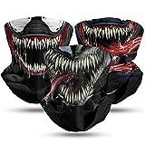 Venom Neck Gaiter 3Pack Face Mask Hunting Scarf Headband Mouth Face Covering Balaclava Bandana for Mens Womens Kids