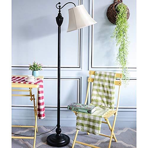 FENG LIAN Europese vloerlamp woonkamer eenvoudige ribbels smeedijzer Amerikaanse slaapkamer bureau retro studie bank verticale bureaulamp M wit staand licht